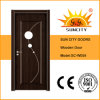 Porta de madeira contínua da inserção de vidro bonita do projeto (SC-W059)
