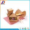 Faltender quadratischer Packpapier-Schnellimbiss-verpackenkasten Brown-