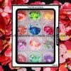 12 de dozen/van de Kleurrijke van de Laser Zilveren van de Vlokken van Kerstmis van de Spijker van de Kunst van de Decoratie Paillettes hart-Gevormde van de Spijker Reeks Lovertjes van het Ontwerp schitteren (ND03)