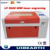 Gravura do laser do CO2 60W da LY 6040 e máquina de corte, 220V/110V, máquina da marcação do laser do CO2