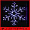 La cuerda del LED de Navidad Decoración azul del copo de nieve LED Luz del adorno