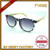 F14082 venden al por mayor las gafas de sol baratas con los templos de bambú