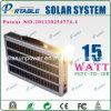 système de l'alimentation 15W solaire portatif pour la lumière à la maison (PETC-15W)