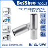 zoccolo profondo dell'azionamento di 1/2  dell'utensile manuale dell'acciaio di vanadio del bicromato di potassio