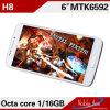 Telefoni mobili dentellare poco costosi dell'OEM H8 di memoria della Cina Mtk6592 Octa