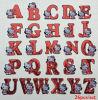 здравствулте! утюг заплаты куртки алфавита письма киски 26PCS на заплатах Sequin для заплатки одежды вышитой яркием блеском