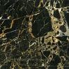 Marmo di Protoro che fiancheggia la pavimentazione di marmo dorata del nero del Baseboard delle mattonelle
