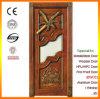 Porte en verre découpée par luxe en bois solide de villa avec le modèle