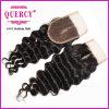 волосы Remy девственницы Silk верхнего закрытия волны шнурка 3.5*4 глубокого бразильские