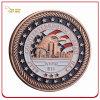 Pièce de monnaie molle d'enjeu de souvenir de l'émail 3D plaquée par cuivre fait sur commande