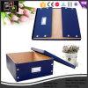 Almacenamiento de cuero azul hermosa caja de embalaje con remache (3173)
