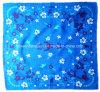 الصين مصنع إنتاج عالة تصميم بايسلي طبق زرقاء قطر وشاح
