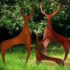 FO-CS15 het openlucht Decoratieve Beeldhouwwerk van het Staal van Corten van Herten