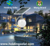 Lámpara solar patentada de la energía del verde del diseño con el sensor de microonda