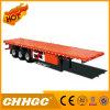 De Chhgc 3 de l'essieu 40FT de bâti plat de conteneur remorque semi