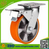 Industrielles doppeltes Bremsen-Schwenker-Fußrollen-Rad