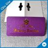 Surtidor de papel púrpura brillante de la etiqueta de la escritura de la etiqueta del boleto del oscilación de la hoja de oro