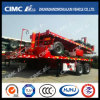 Cimc Huajun 20FT 후방 Tipping Flatbed Semi Trailer