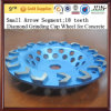 Petit Arrow Diamond Segment Diamond Grinding Cup Wheel pour Concrete