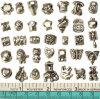 Europese Gemengde Parels voor Toebehoren van de Juwelen van de Leveranciers van de Manier van de Parels van de Dia van de Charmes van de Ambachten van het Gat van het Metaal van de Armbanden DIY van Pandora de Vastgestelde Grote Antieke Zilveren Nieuwe