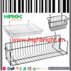 Gridwall Hanging Steel Wire Basket Display for Supermarket Racks
