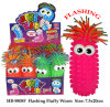 Lustiges blinkendes flaumiges Wurm-Puffer-Kugel-Spielzeug