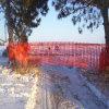 高品質のスキー場のためのオレンジ安全塀