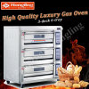 Four de gaz de machine de traitement au four de pizza de bonne qualité à vendre (usine réelle)