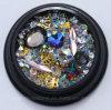 Decoratie van de Kunst van de Spijker van de Manicure van Strass DIY van het Metaal van de Parels van de Parel van het Bergkristal van de Spijker van het Kristal van de Kleur van ab de Mini 3D (NR-03)