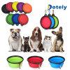旅行ペット猫の餌水食糧のための折りたたみ犬ボールのFoldable拡張可能皿