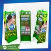 Salvar el estante de visualización de la cartulina, haciendo publicidad del soporte de visualización de papel
