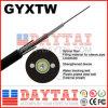 덕트 응용을%s 옥외 2~24 코어 섬유 광학적인 GYXTW 케이블
