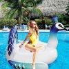 Раздувной бассеин плавает павлин гигантского сплотка бассеина павлина цветастый голубой