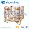 Galvanizzato impilando il contenitore d'acciaio pieghevole dell'oggetto semilavorato dell'animale domestico
