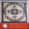 Patrón cuadrado de Meddllion del mosaico del mármol del jet de agua (DES-MDL07)