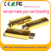 Erstklassiges Qualitätsgold-USB-Flash-Speicher-Metallfeder-Laufwerk