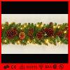 Indoor Christmas Decorations Glitter Flower LED Garland String Light