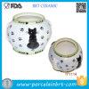 De mooie Kom van Vier Zwart-witte Vissen van Katten Ceramische