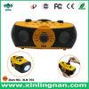 多機能の携帯用手動クランクの音楽プレーヤー箱、屋外の使用(XLN-701)