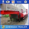 Essieux du transport 3 d'engins de travaux publics lourds remorque de Lowbed de 60 tonnes