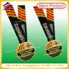 Britannici BRITANNICI Soccer Unique Metal Medal Sports Gold Medallion con Ribbon (LZY-00020130032)