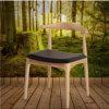 Butaca antigua Round-Backed de las maneras del claxon que restablece americano, silla del café del hotel, silla del ordenador de madera sólida