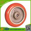 Aluminiummittelgummiband PU-Fußrollen-Rad