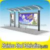 Kundenspezifischer im Freien vorfabrizierter Edelstahl-Bushaltestelle-Schutz
