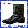 Ботинки дождя PVC лодыжки способа водоустойчивые для повелительницы (TNK70015)