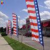 Bandeira americana de penas ao ar livre para os Estados Unidos