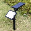 Lampe solaire blanche chaude imperméable à l'eau de lumière de pelouse de détecteur de mouvement