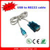 USB 2.0 para Serial Db9 Macho (9 pinos) Adaptador de cabo RS232 Cabo 1 Ft