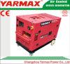 Alternador Diesel Soundproof Genset silencioso do jogo de gerador da potência de Yarmax 10kw 10000W