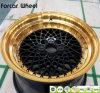 Оправа колеса сплава автомобиля губы золота алюминиевая
